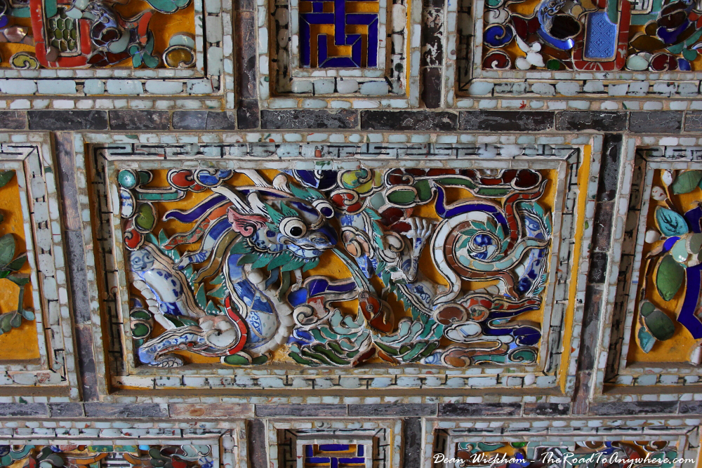 Detail at Khai Dinh Tomb in Hue, Vietnam