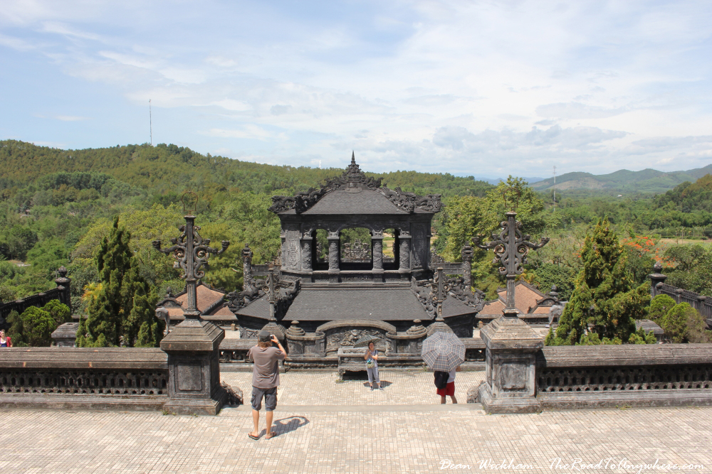 View from the top of Khai Dinh Tomb in Hue, Vietnam