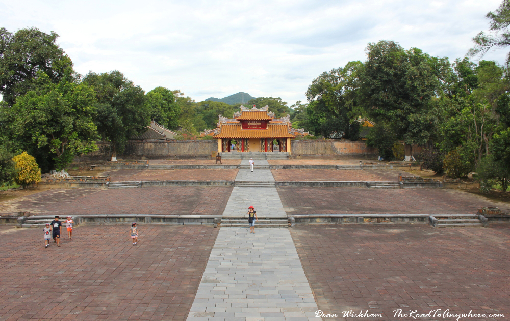 Pavilion at Minh Mang Tomb in Hue, Vietnam