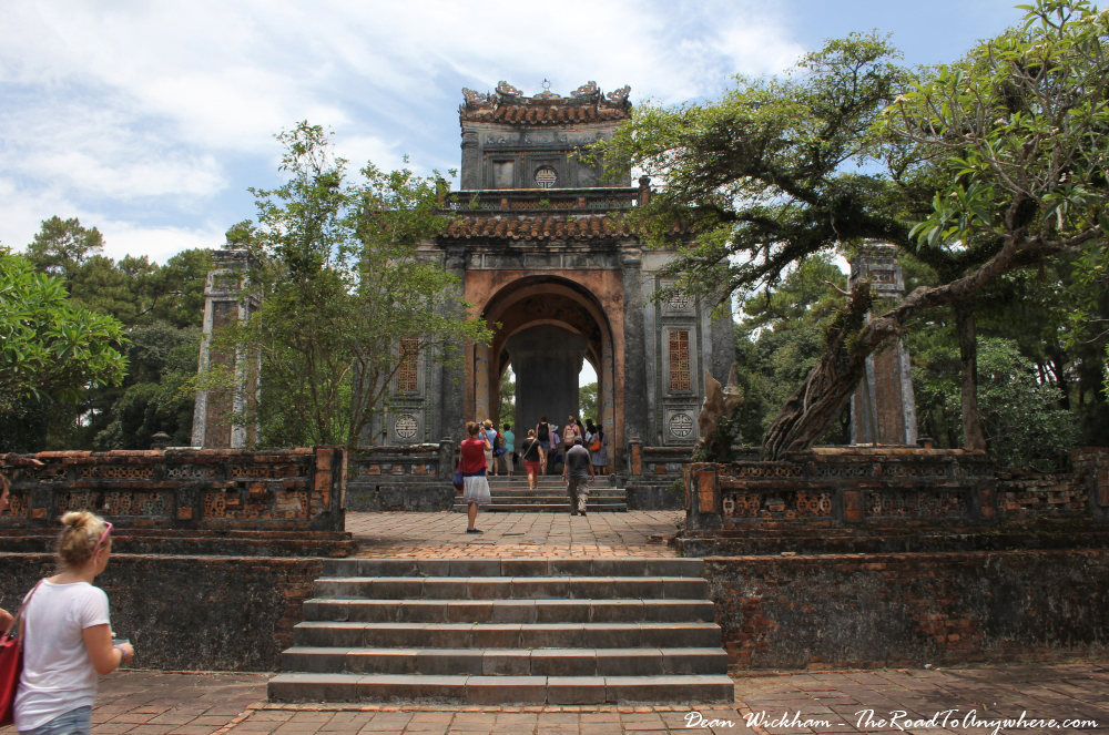 Pavilion in Tu Doc Tomb in Hue, Vietnam