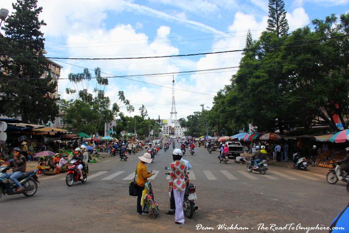 An avenue in Dalat, Vietnam