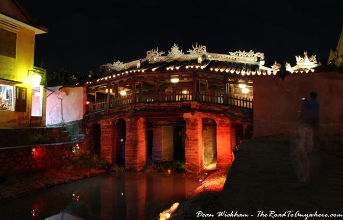 Japanese Bridge at night in Hoi An, Vietnam