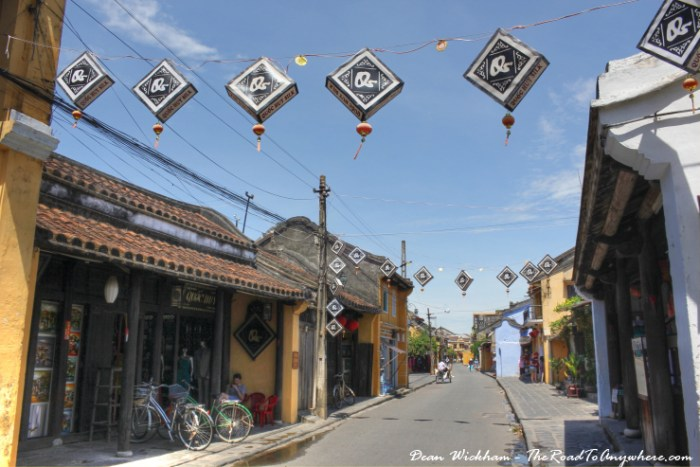 Typical street view in Hoi An, Vietnam