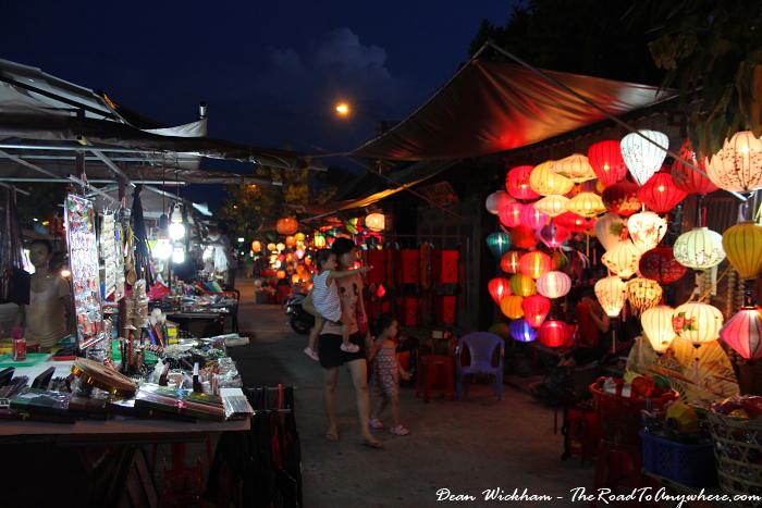 Night market in Hoi An, Vietnam