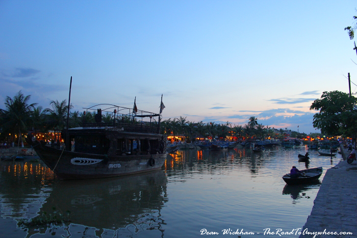 Boats on the river in Hoi An, Vietnam