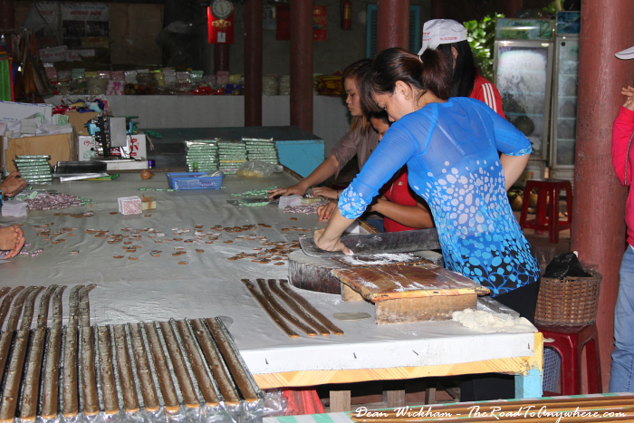 Making coconut candy in the Mekong Delta, Vietnam
