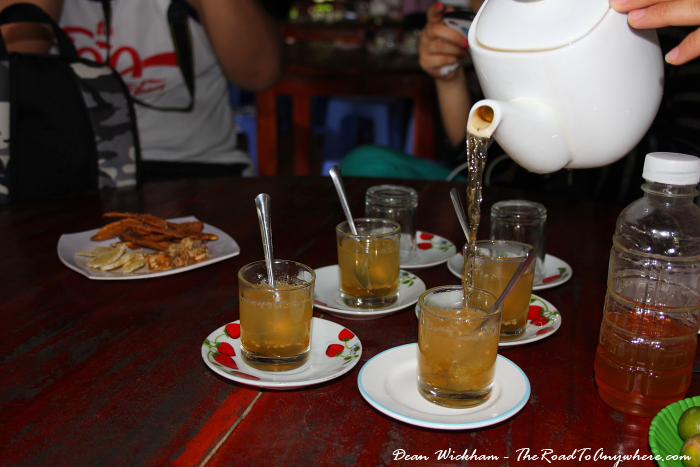 Honey tea in the Mekong Delta, Vietnam
