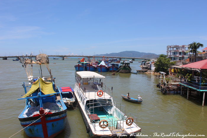 Boats in the harbour in Nha Trang, Vietnam