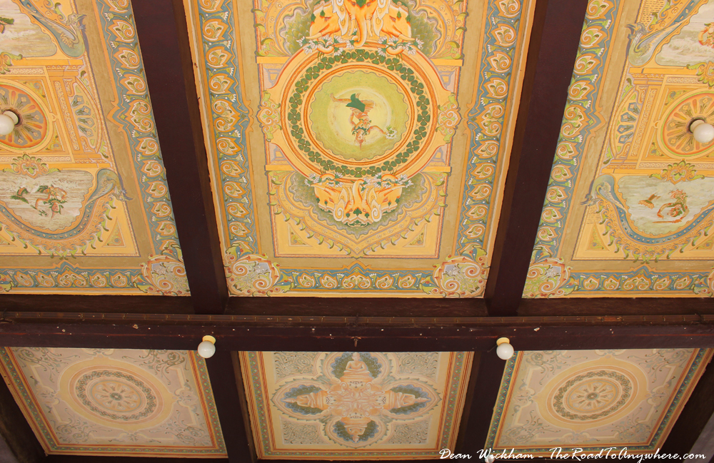 Ceiling in Pochani Pavilion in the Royal Palace in Phnom Penh, Cambodia