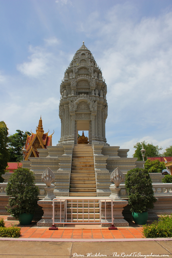 The Stupa of Princess Kantha Bopha in the Royal Palace in Phnom Penh, Cambodia