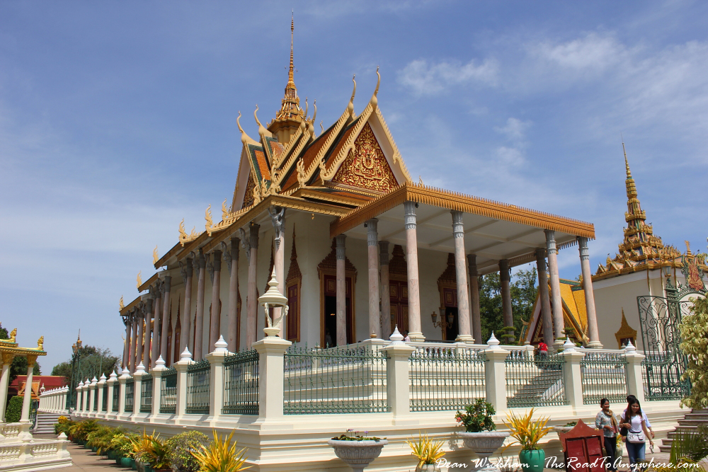 The Silver Pagoda in the Royal Palace in Phnom Penh, Cambodia