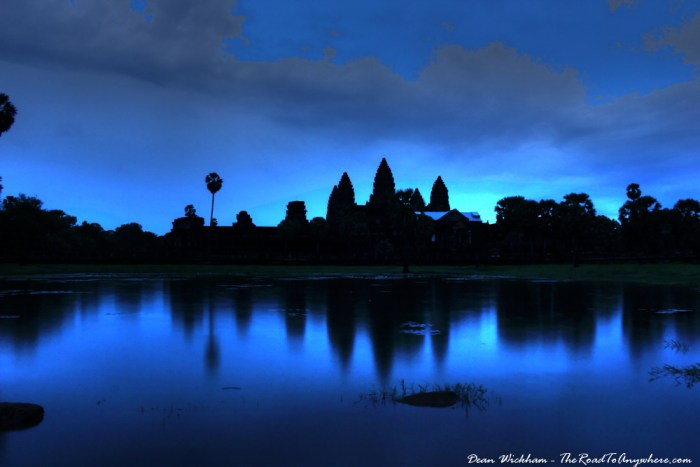 Angkor Wat at Sunrise in Angkor, Cambodia