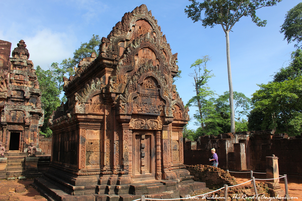 Shrine in Banteay Srei in Angkor, Cambodia