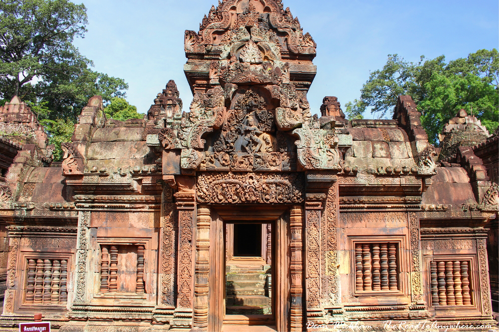 Ancient temple in Banteay Srei in Angkor, Cambodia