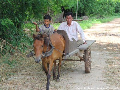 Horse and Cart on Koh Trong in Kratie, Cambodia