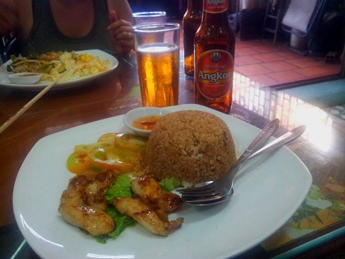 Chicken Fried Rice in Phnom Penh, Cambodia