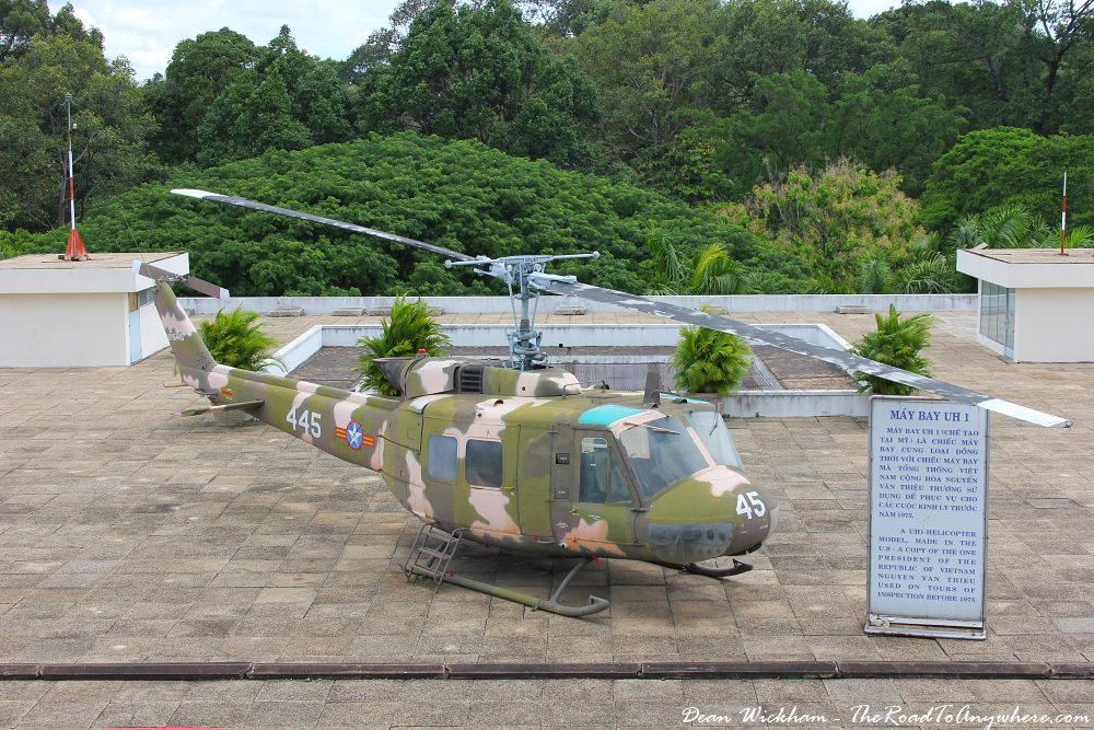 Helipad at the Reunification Palace in Saigon, Vietnam