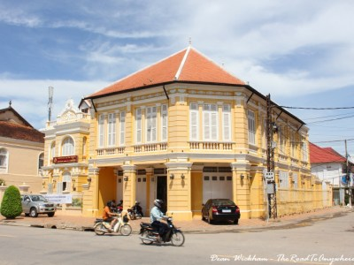 Old colonial building in Battambang, Cambodia