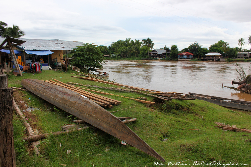 Boat Building on Don Khone in Si Phan Don, Laos