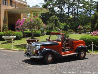 An old classic car at Bao Dai's Palace in Dalat, Vietnam
