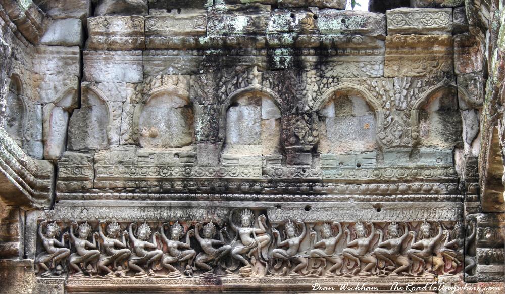 Ancient carvings at Preah Khan in Angkor, Cambodia