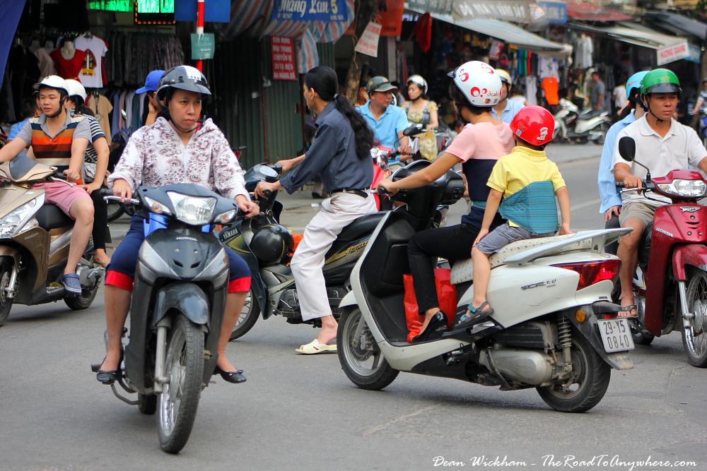 Motorbikes in Hanoi, Vietnam