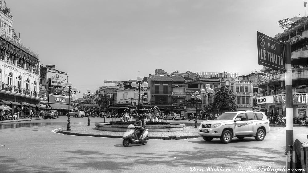 Roundabout in Hanoi, Vietnam