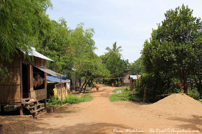 Rural road on Koh Trong, Cambodia