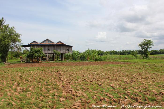 Farm house on Koh Trong, Cambodia