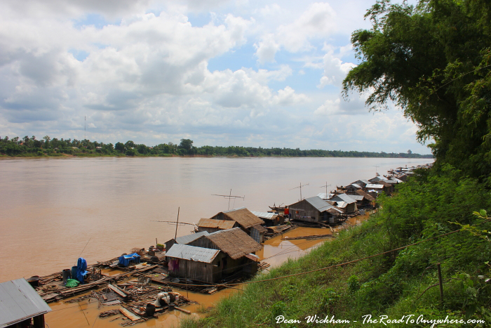 Floating fishing village on Koh Trong in Cambodia