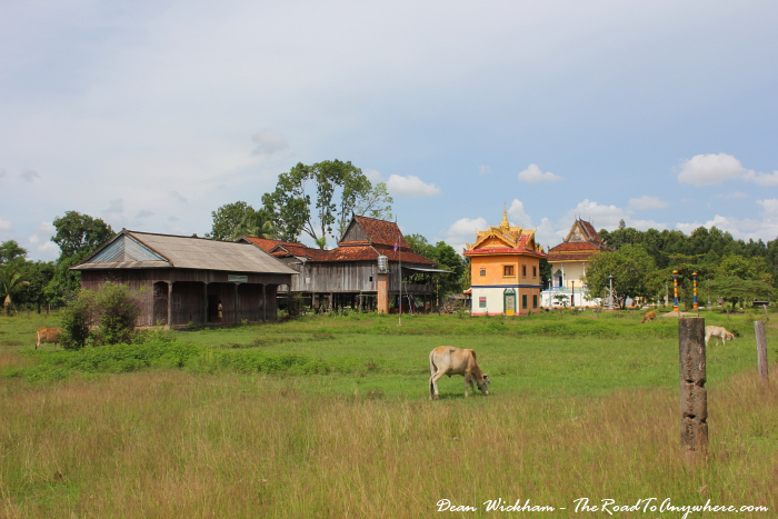 View of a temple on Koh Trong in Cambodia