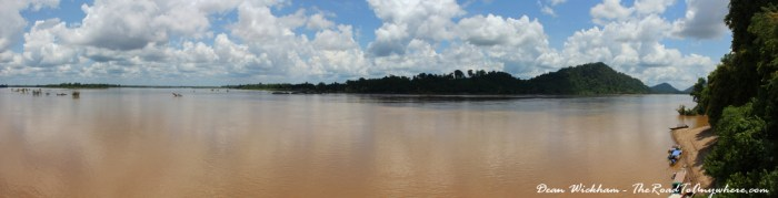 Mekong River panorama on Don Khone, Laos