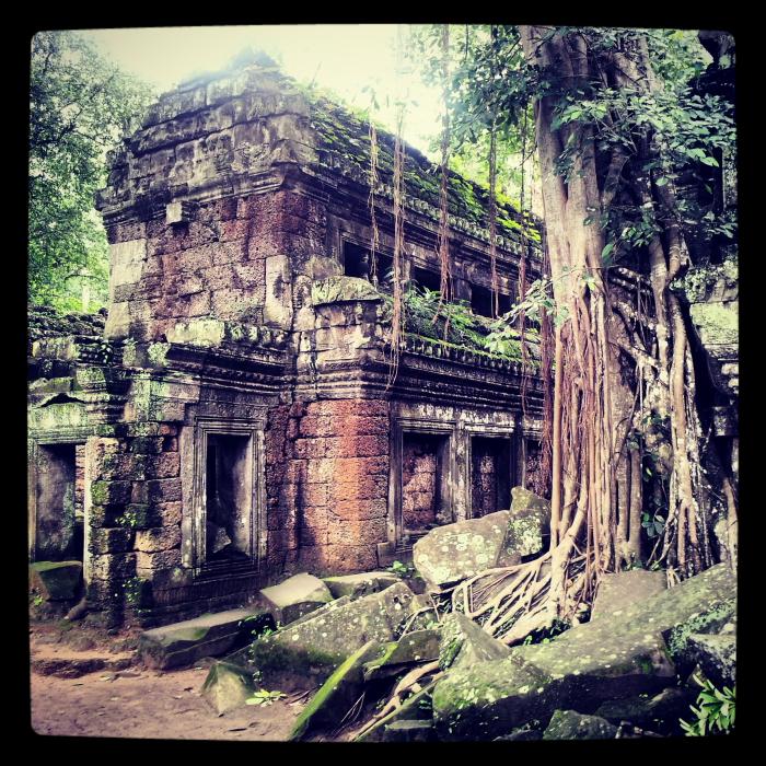 Ta Phrom temple in Angkor, Cambodia