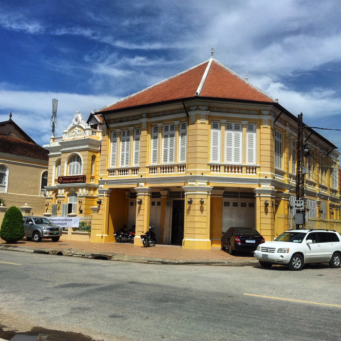 French colonial architecture in Battambang, Cambodia
