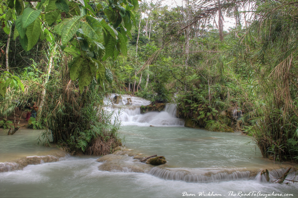 Jungle stream at Kuang Si, Laos