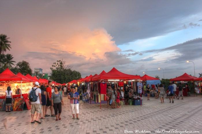 Night market in Vientiane, Laos