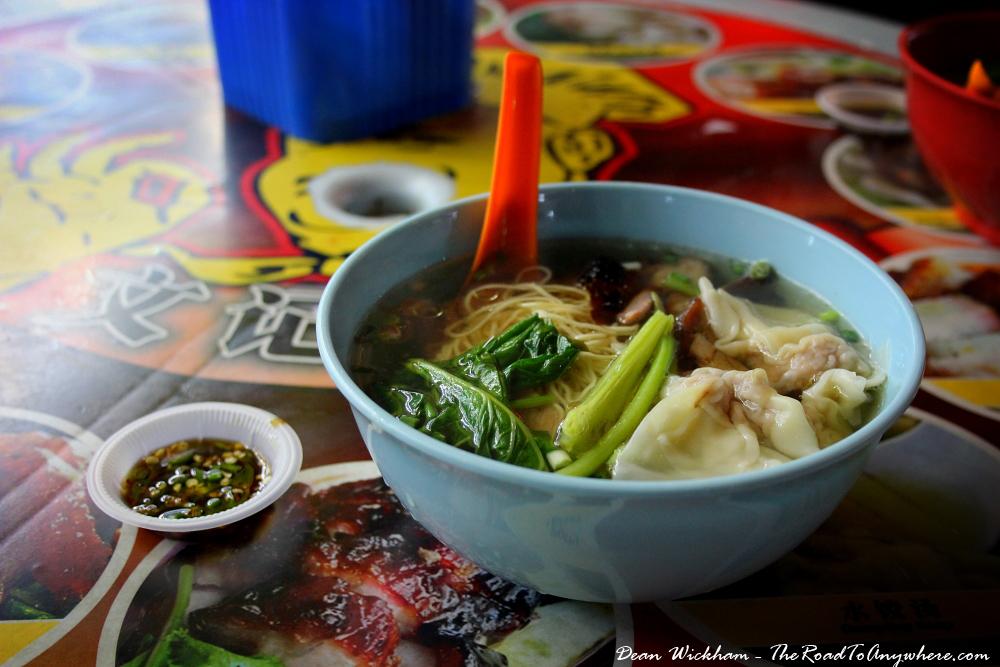 Wanton Noodle soup in Kuala Lumpur, Malaysia