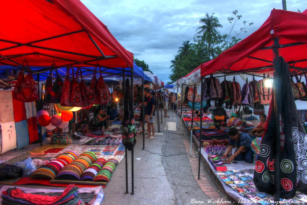 Handicraft Night Market in Luang Prabang, Laos