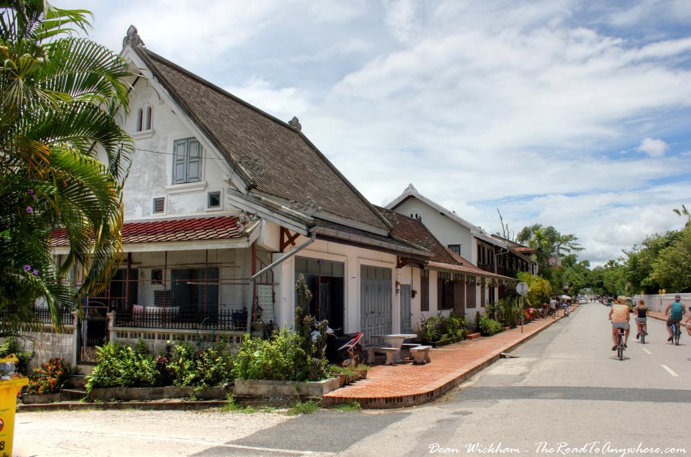 Street corner in Luang Prabang, Laos