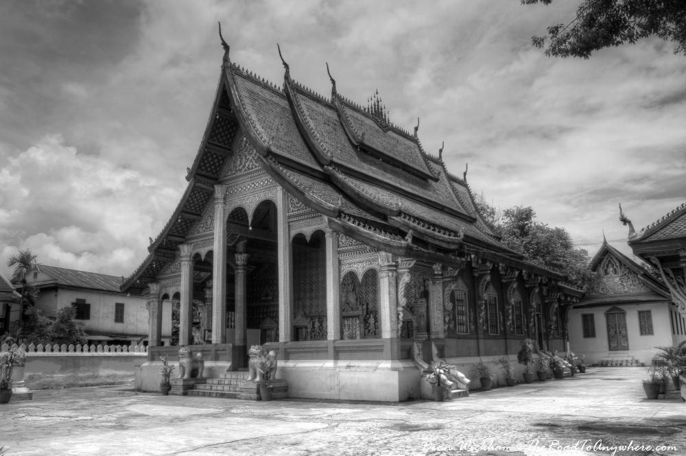 Viharn at Wat Sensoukharam in Luang Prabang, Laos