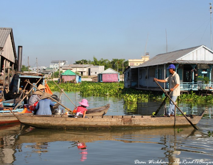 Floating Fishing Village in Chao Doc, Vietnam