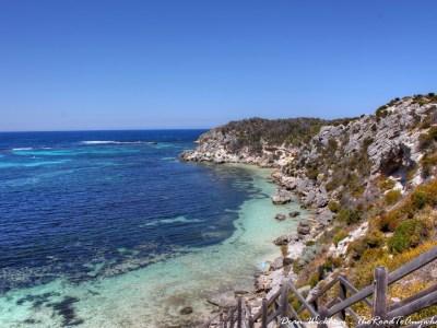 Rocky Coastline on Rottnest Island, Western Australia