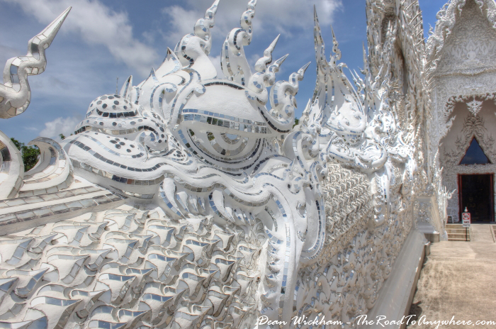 Dragon at Wat Rong Khun (The White Temple) in Chiang Rai, Thailand