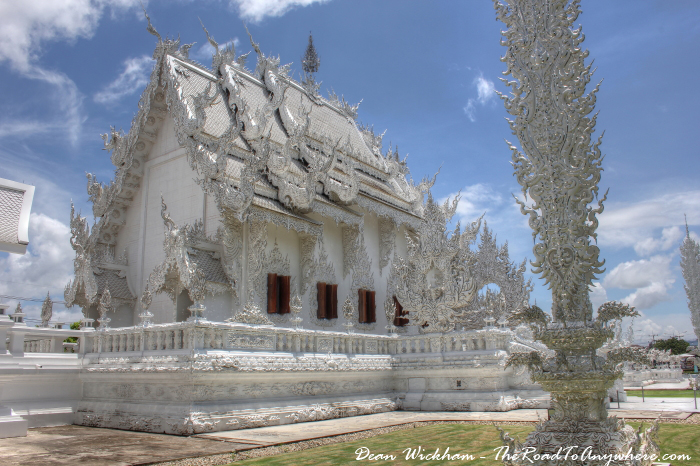 Back of the temple at Wat Rong Khun (The White Temple) in Chiang Rai, Thailand