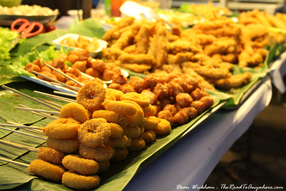 Fried Street Food Snacks in Chiang Mai, Thailand