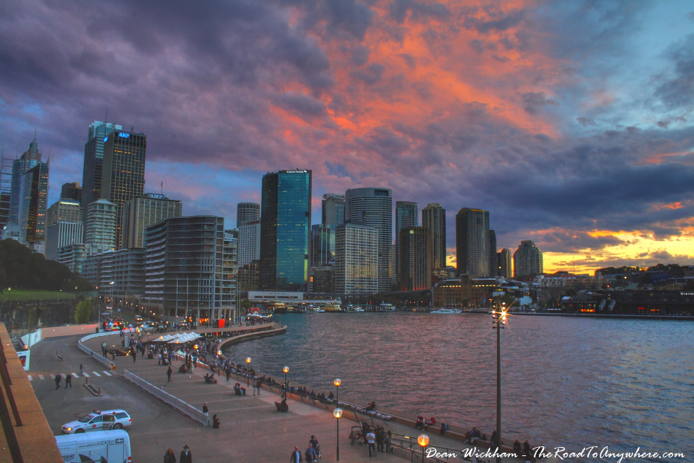 Pink skies over Sydney City, Australia