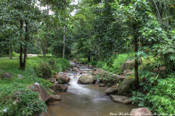 Refreshing mountain stream in Northern Thailand