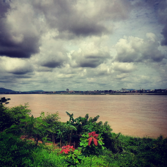 View of the Mekong River in Savannakhet, Laos