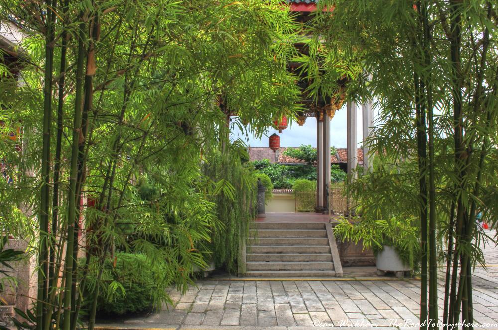 Bamboo garden at Khoo Kongsi Clanhouse in George Town, Penang, Malaysia