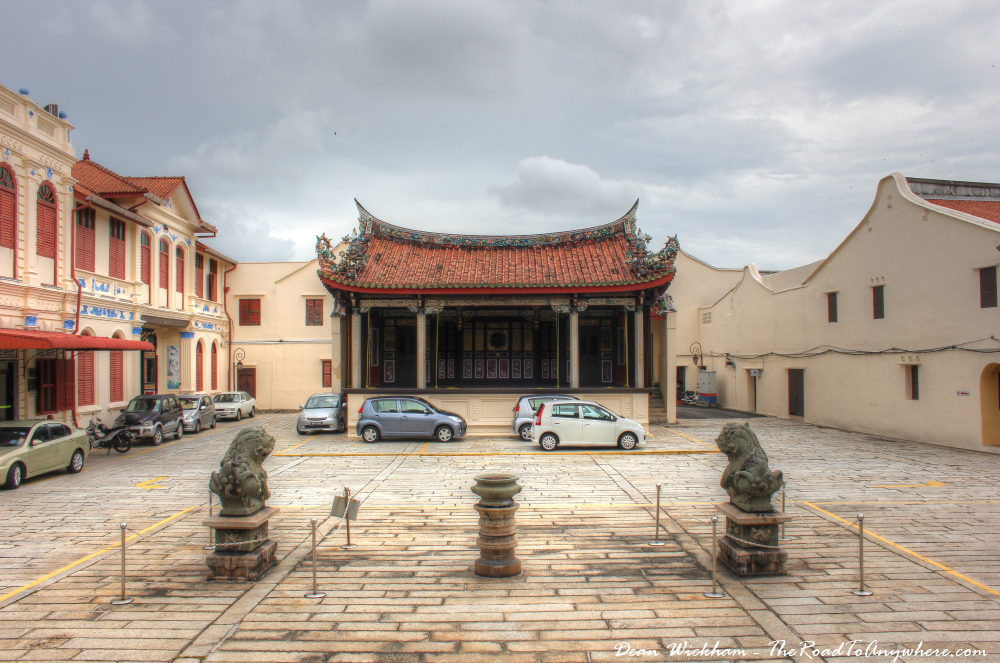 Courtyard and theatre at Khoo Kongsi Clanhouse in George Town, Penang, Malaysia